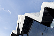 Riverside Museum by Zaha Hadid Architects is the Transport museum for Glasgow on the bank of the river Clyde - ARC107383