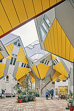 Exterior of Cube Houses, Rotterdam, Netherlands - ARC107400