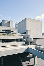 The Royal National Theatre on London's South Bank - ARC108127