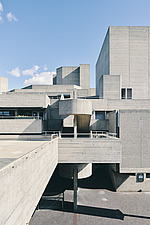 The Royal National Theatre on London's South Bank - ARC108129