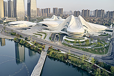 The Changsha Meixihu International Culture and Art Centre, located beside the Meixi Lake, in Changsha, the capital of the Hunan province in China - ARC108297