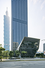 Nanshan Plaza in Taipei, Taiwan, stands at 272m tall, next the Taipei 101, the complex consists three buildings, an office tower, commercial and cultu... - ARC108461