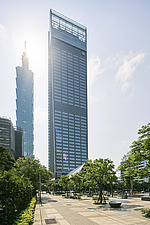Nanshan Plaza in Taipei, Taiwan, stands at 272m tall, next the Taipei 101, the complex consists three buildings, an office tower, commercial and cultu... - ARC108462