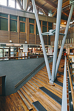 Interior of the Beitou branch of Taipei's public library system which is Taiwan's first green library and is one of the most energy efficient and... - ARC108512