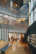 Interior of the Beitou branch of Taipei's public library system which is Taiwan's first green library and is one of the most energy efficient and... - ARC108513