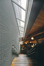 Interior of the Beitou branch of Taipei's public library system which is Taiwan's first green library and is one of the most energy efficient and... - ARC108519