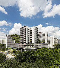 Winner of the World Architecture Festival Building of the Year 2018, Kampung Admiralty is a integrated public facility designed to create inter-genera... - ARC108717