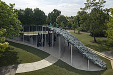 Serpentine Pavilion 2019 which is on the Serpentine Gallery's lawn in Kensington Gardens, London, UK - ARC108847