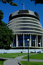 Parliament House (the Beehive), Wellington, North Island - 10627-290-1