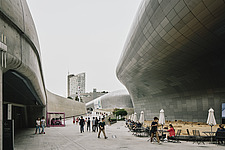 Dongdaemun Design Plaza, also known as DDP, is a cultural hub at the centre of Dongdaemun, a historic district of Seoul in Korea - ARC109304