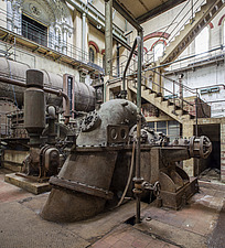Pump and Diesel Engine, Crossness Pumping Station, Thamesmead, UK - ARC109507