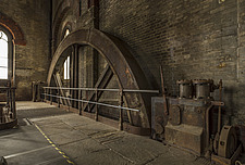 Flywheel, Crossness Pumping Station, Thamesmead, UK - ARC109510