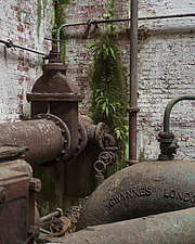 Rusting Pipes and Decay, Crossness Pumping Station, Thamesmead, UK - ARC109513
