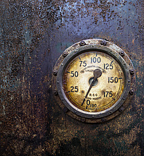 Fluid Measure Gauge, Crossness Pumping Station, Thamesmead, UK - ARC109517