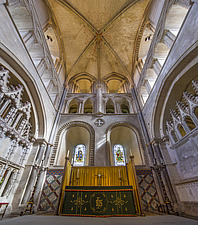 Altar and ceiling, Hospital of St Cross and Almshouse of Noble Poverty, Winchester, UK - ARC109525