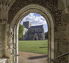 View to the chapel, Hospital of St Cross and Almshouse of Noble Poverty, Winchester, UK - ARC109526