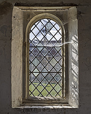 Cobwebs and window, Hospital of St Cross and Almshouse of Noble Poverty, Winchester, UK - ARC109527