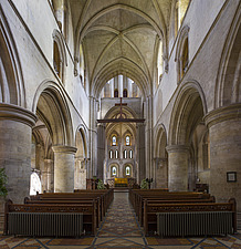Nave of the chapel, Hospital of St Cross and Almshouse of Noble Poverty, Winchester, UK - ARC109533