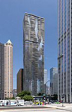 The 82 storey, 876 feet high Aqua Tower in Chicago, USA, which was completed in 2009 - ARC109585