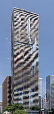 The 82 storey, 876 feet high Aqua Tower in Chicago, USA, which was completed in 2009 - ARC109586