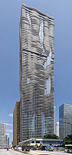 The 82 storey, 876 feet high Aqua Tower in Chicago, USA, which was completed in 2009 - ARC109587