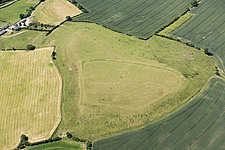 Enclosed settlement earthwork on Robin a Tiptoe Hill, near Tilton on the Hill, Leicestershire, 2018 - ARC107491