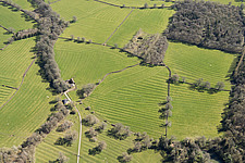 Medieval ridge and furrow earthworks near Sezincote, Gloucestershire - ARC108170