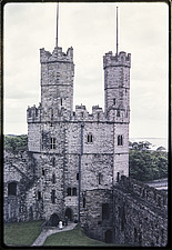Eagle Tower in Caernarfon Castle, viewed from the top of Well Tower - ARC108187