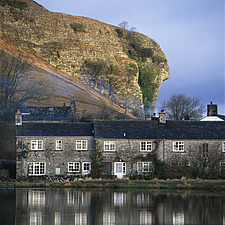 Terrace of cottages, Wharfdale Kilnsey, North Yorkshire, England - 9286-220-1