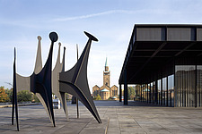 Sculpture - Heads and Tail by Alexander Calder outside the New National Gallery (Neue Nationalgalerie), Berlin, Germany - 38436-10-1
